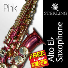Pink Alto Sax • Brand New STERLING Eb Saxophone • Case • FREE Express Post •