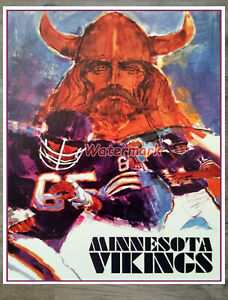 NFL Vintage Minnesota Vikings Poster Print Color 16 X 20 REPRINT Photo Picture