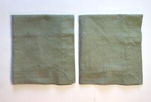 2 SFERRA Bros Green Standard Pillow Shams Very Good Cond