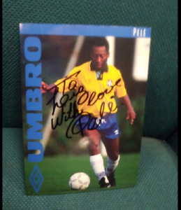 PELE Signed Autograph Auto 5x7 Photo Picture New York Cosmos Brazil
