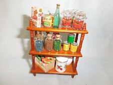 DOLLHOUSE MINIATURE 1:12 SCALE REUTTERS HANDCRAFTED DOLL HOUSE LARDER SHELVES