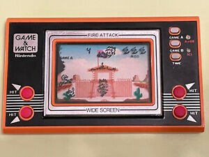 Nintendo Game and Watch Fire Attack Handheld Video Game Widescreen
