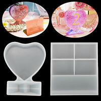2PCS DIY Silicone Picture Photo Frame Resin Mold DIY Love Epoxy Craft Mould Tool
