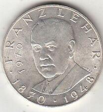 AUSTRIA 25 SCHILLING 100 ANN. NASCITA FRANZ LEHAR ARGENTO SILVER 1970 VEDI FOTO