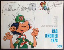 CALENDRIER SCOUT Avec Franquin, Roba, Morris, Will, Peyo,...1973 Bon état
