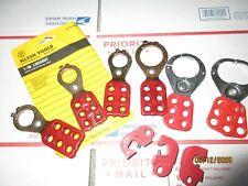 Lot (7) Lockouts, Klein or Master Tools w/ interlocking tabs