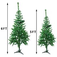 5/6FT Artificial Xmas Tree Christmas Decorations Festive Fun with Stand