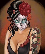 "Ardras Skull & Rose Queen size 1 ply Super Soft Plush blanket 79""X94"""