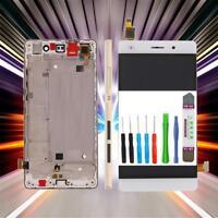 Original Huawei Ascend P8 Lite ALE-L21 Display LCD Touchscreen Weiß + Rahmen Neu