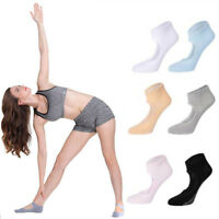 For Womens Cotton Socks Non Slip Yoga Barre Skid Pilates Barre Grips Ballet Sock