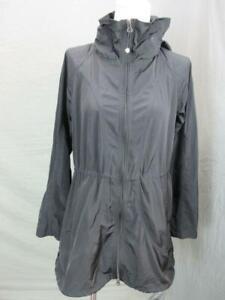 Athleta Size XXS Womens Black Full Zip Hooded Outdoor Windbreaker Coat T684
