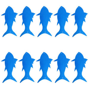 10PCS Holiday Party Scene Decoration Ocean Theme Party Fish Decor for Store