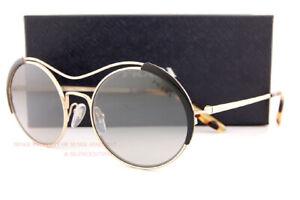 Brand New Prada Sunglasses PR 55VS AAV 5O0 Gold Black/Grey Mirror For Women