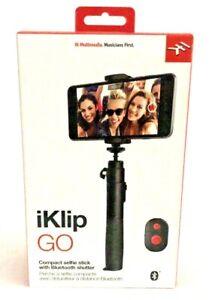 IK Multimedia iKlip Go Selfie Stick With Bluetooth Remote UPC 8025813737037
