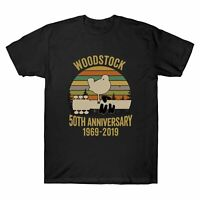 Woodstock 50Th Anniversary 1969-2019 Music Vintage T-Shirt Men's Cotton Tee