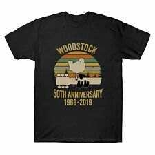 Woodstock 50Th Anniversary 1969-2019 Music Vintage T-Shirt Men's Cotton Tee
