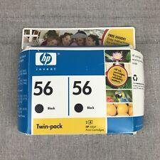 OEM HP 56 Ink Jet Cartridges Twin Pack Black C9319BN Genuine Oct 2007