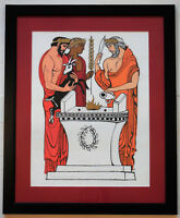 """Salvatore Milichev """"Abraham"""" Framed Limited Edition Lithograph Hand Signed COA"""