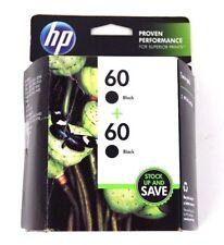 Genuine HP Twin-Pack 60 Black Ink Cartridges CZ071FN, EXPIRED 03/2014