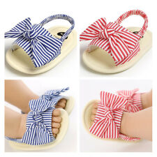 Baby Girl Crib Shoes Newborn Infant BowKnot Inhouse Crawling Summer Sandals 0-18