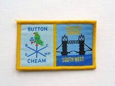 Sutton & Cheam / Greater London South West double Scout uniform badge - new