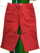 J. LINDEBERG Performance Waterproof Golf Pants Red ~ 32 x 32 pullover zipper