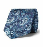 Turnbull & Asser Multi-Blue Paisley Silk Tie 8cm