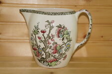 """Johnson Brothers Indian Tree 28 ounce Pitcher, 5 1/8""""-Green Greek Key"""