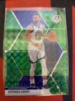 2019-20 Panini Mosaic Stephen Curry Basketball Card #70 Golden State GREEN PRIZM