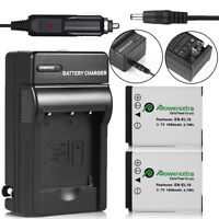2 Pcs EN-EL19 Battery + Charger for Nikon Coolpix S33 S7000 S6900 S3700 S3500