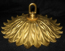 "6 1/2"" Fancy Solid Brass Chandelier Ceiling Canopy Ornate Sunflower Floral"