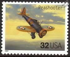 USAAC BOEING P-26 PEASHOOTER WWII Fighter Aircraft Stamp (1997 USA)