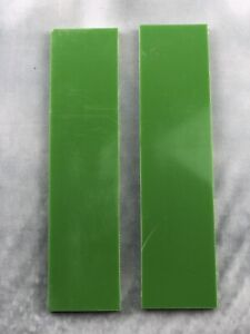 G10 Lime Green 150x35x6mm Scales for knife handle making/woodcraft/bushcraft