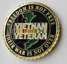 POW MIA VIETNAM VETERAN USA PATRIOTIC SERIES CHALLENGE COIN 1.6 INCHES NEW