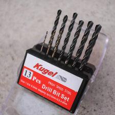13 Piece 1.5-6.5mm HSS Drill Bit Set Step High Speed Steel For Metal