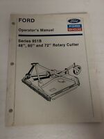 Vintage Ford New Holland Series 951B Rotary Cutter Owners Operators Manual