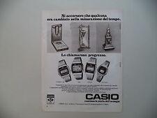 advertising Pubblicità 1978 OROLOGI CASIO