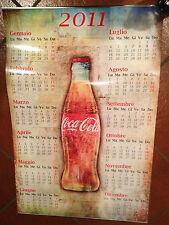 "Bellissimo Manifesto/Calendario 2011 Coca Cola 92 x 62 cm ""Perfetto""Leggi;-)"