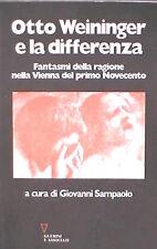 OTTO WEININGER E LA DIFFERENZA Giovanni Sampaolo Guerini Filosofia Saggistica di