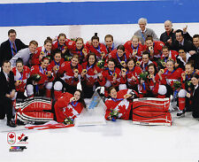 Team Canada Women's Centre Ice 8x10 Photo 2014 NHL Hockey Winter Olympics Gold