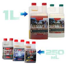 1L Canna Coco A & B + 250mL Boost Cannazym Rhizotonic Plant Grow Hydro Nutrient