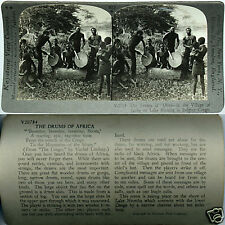 Keystone Stereoview NATIVES & DRUMS, Ikoko, Belgian CONGO From 600/1200 Card Set