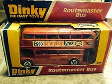Dinky #289 Esso Safety Grip Tyres Routemaster Double Decker Bus 1968 Excellent