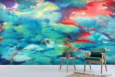 New Listing3D Abstract Graffiti Green Wallpaper Wall Murals Removable Wallpaper 281
