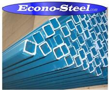 STEEL BLUE PAINTED RHS 25x25x1.6mm, 6.5mt long. NEW MATERIAL. MORE BELOW