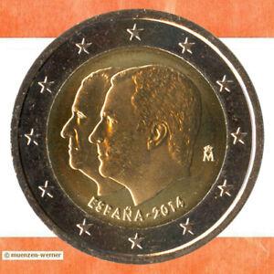 Sondermünzen Spanien: 2 Euro Münze 2014 Thronwechsel Sondermünze Gedenkmünze