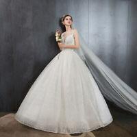 Sleeveless Lace Up Wedding Dress 2019 Vintage O-Neck Bridal Dress Wedding Gown
