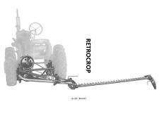 IH Farmall Super A-24 HM-24 Rear Mount Rear Sickle Mower Owner's + Parts Manual