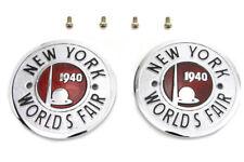 1940 World's Fair Rond Réservoir Emblème Ensemble Pour Harley-Davidson