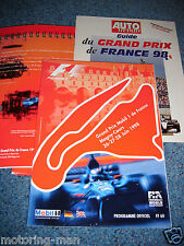 French Grand Prix programme PRESS PACK KIT 1998 Michael Schumacher Damon Hill F1